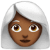 Medium Dark Skin Tone White Hair Woman