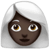 Woman: Dark Skin Tone, White Hair