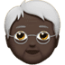 🧓🏿 Dark Skin Tone Older Person Emoji on Apple Platform