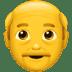 👴 old man Emoji on Apple Platform