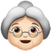 👵🏻 old woman: light skin tone Emoji on Apple Platform