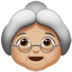 👵🏼 old woman: medium-light skin tone Emoji on Apple Platform