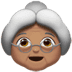 👵🏽 old woman: medium skin tone Emoji on Apple Platform