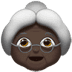 Old Woman: Dark Skin Tone