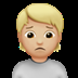 🙍🏼 person frowning: medium-light skin tone Emoji on Apple Platform
