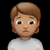 🙍🏽 person frowning: medium skin tone Emoji on Apple Platform