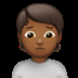 Medium Dark Skin Tone Person Frowning
