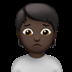Person Frowning: Dark Skin Tone