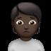 🙍🏿 person frowning: dark skin tone Emoji on Apple Platform