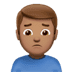 🙍🏽‍♂️ man frowning: medium skin tone Emoji on Apple Platform