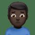 Man Frowning: Dark Skin Tone