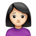 🙍🏻‍♀️ woman frowning: light skin tone Emoji on Apple Platform
