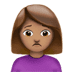 🙍🏽‍♀️ woman frowning: medium skin tone Emoji on Apple Platform
