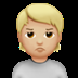 🙎🏼 person pouting: medium-light skin tone Emoji on Apple Platform