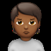 🙎🏾 person pouting: medium-dark skin tone Emoji on Apple Platform