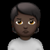 Person Pouting: Dark Skin Tone