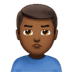 🙎🏾‍♂️ man pouting: medium-dark skin tone Emoji on Apple Platform
