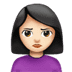 🙎🏻‍♀️ woman pouting: light skin tone Emoji on Apple Platform