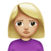 🙎🏼‍♀️ woman pouting: medium-light skin tone Emoji on Apple Platform
