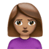 🙎🏽‍♀️ woman pouting: medium skin tone Emoji on Apple Platform