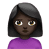 🙎🏿‍♀️ woman pouting: dark skin tone Emoji on Apple Platform