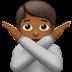 🙅🏾 person gesturing NO: medium-dark skin tone Emoji on Apple Platform