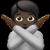 🙅🏿 person gesturing NO: dark skin tone Emoji on Apple Platform