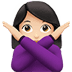 🙅🏻‍♀️ woman gesturing NO: light skin tone Emoji on Apple Platform