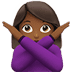 🙅🏾‍♀️ woman gesturing NO: medium-dark skin tone Emoji on Apple Platform