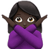 🙅🏿‍♀️ woman gesturing NO: dark skin tone Emoji on Apple Platform