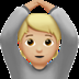 🙆🏼 person gesturing OK: medium-light skin tone Emoji on Apple Platform