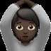🙆🏿 person gesturing OK: dark skin tone Emoji on Apple Platform