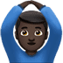 Man Gesturing OK: Dark Skin Tone