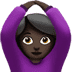 🙆🏿‍♀️ woman gesturing OK: dark skin tone Emoji on Apple Platform