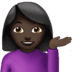 💁🏿‍♀️ woman tipping hand: dark skin tone Emoji on Apple Platform