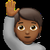 🙋🏾 person raising hand: medium-dark skin tone Emoji on Apple Platform
