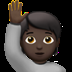Dark Skin Tone Person Raising Hand