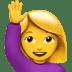 🙋♀️ woman raising hand Emoji on Apple Platform