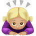 🙇🏼‍♀️ woman bowing: medium-light skin tone Emoji on Apple Platform