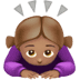 🙇🏽‍♀️ woman bowing: medium skin tone Emoji on Apple Platform
