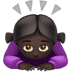 🙇🏿‍♀️ woman bowing: dark skin tone Emoji on Apple Platform