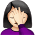 🤦🏻‍♀️ woman facepalming: light skin tone Emoji on Apple Platform