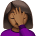 🤦🏾‍♀️ woman facepalming: medium-dark skin tone Emoji on Apple Platform