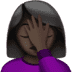 Woman Facepalming: Dark Skin Tone