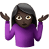 🤷🏿‍♀️ woman shrugging: dark skin tone Emoji on Apple Platform