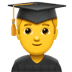 👨‍🎓 man student Emoji on Apple Platform