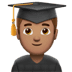 👨🏽‍🎓 Medium Skin Tone Male Student Emoji on Apple Platform
