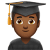 👨🏾‍🎓 man student: medium-dark skin tone Emoji on Apple Platform