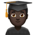 👨🏿‍🎓 man student: dark skin tone Emoji on Apple Platform