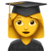👩‍🎓 woman student Emoji on Apple Platform